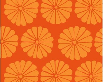 Damask Flower in Orange fabric designed by Kaffe Fassett GP183  - Sold in 1/2 yard increments