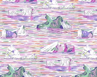 Free Spirit Migration Iceberg Lavender 018 designed by Lorraine Turner - Sold in 1/2 yard increments