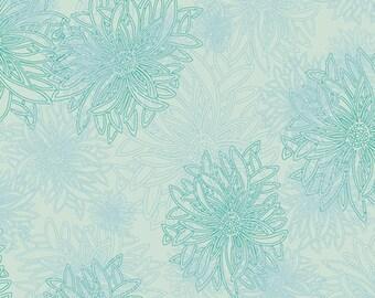 1/2 Yard Art Gallery Fabrics Floral Element in Icy Blue  FE 519