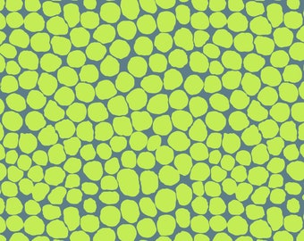 Jumble in Lime fabric designed by Brandon Mably BM053 for Kaffe Fassett - Sold in 1/2 yard increments