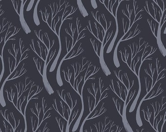 Dear Stella Toil and Trouble, Trees 1819 designed by Rae Ritchie - Sold in 1/2 yard increments