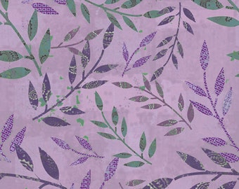 1/2 yard Las Flores 982 Purple designed by Nancy Rink for Studio 37 of Marcus Bros Fabrics