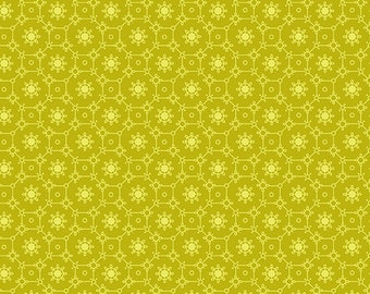 1/2 Yard Andover Collective Lace in Yellow  9181Y designed by Edyta Sitar