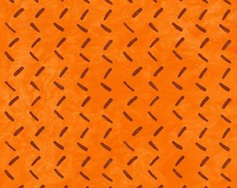 1/2 yard Rivers Bend  Modern Earth, Tracks in Orange  2173-10 designed by Janine Burke