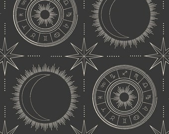 1/2 Yard Art Gallery Fabrics Luna and Laurel, Esoteric Alignment 28506 designed by AGF Studio