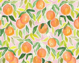 Dear Stella Orangerie, Oranges 1860designed by Caitlin Wallace Rowland - Sold in 1/2 yard increments