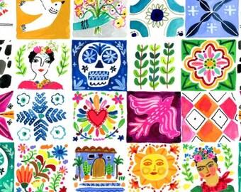 1/2 Yard Dear Stella Viva Mexico, Tiles 1502 designed by August Wren