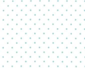 1/2 Yard Moda Essential Dots Polka Dot in Teal 8654-65