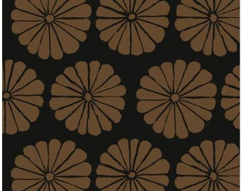 Damask Flower in Brown fabric designed by Kaffe Fassett GP183  - Sold in 1/2 yard increments