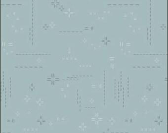 1/2 Yard Art Gallery Fabrics Decostitch in Skyline Blue DSE 717