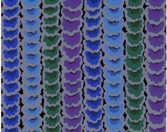 Garlands in Dark fabric designed by Kaffe Fassett GP181  - Sold in 1/2 yard increments