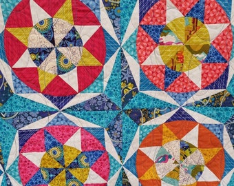 Circle Star Quilt Pattern with Acrylic Templates