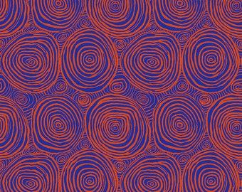 1/2 yard Onion Rings in Tomato Kaffe Fassett  fabric -  BM070