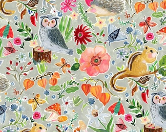 """Dear Stella  MINKY  Forest Life PAW1453 designed by August Wren - 58"""" Wide - Sold in 1/2 yard increments"""