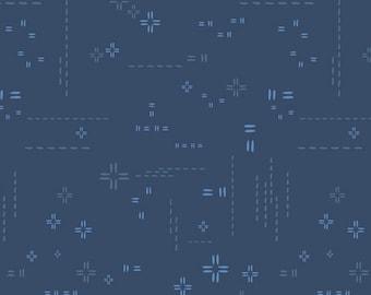 1/2 Yard Art Gallery Fabrics Decostitch in Indigo Sky DSE 708