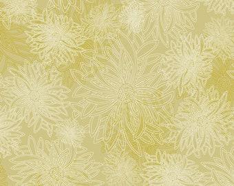 1/2 Yard Art Gallery Fabrics Floral Element in Hay  FE 532