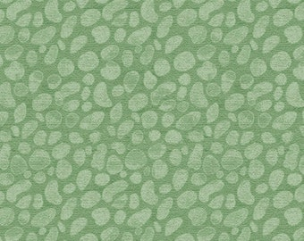 1/2 yard Las Flores 980 Green designed by Nancy Rink for Studio 37 of Marcus Bros Fabrics