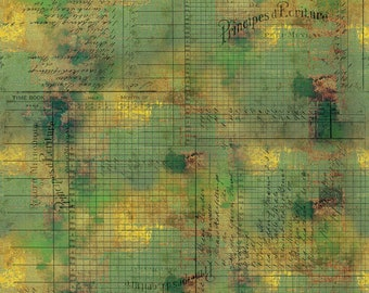 Free Spirit Abandoned Principal Methods 132 designed by Tim Holtz - Sold in 1/2 yard increments