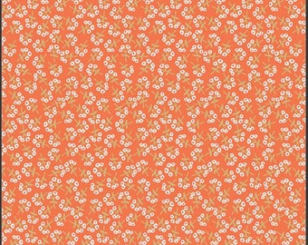 Art Gallery Open Heart, Sweet Floret Peach 24357 designed by Maureen Cracknell - Sold in 1/2 Yard Increments