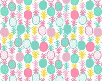 1/2 Yard Dear Stella Pineapple Express KNIT Cotton Lycra Jersey 4 way stretch K1517