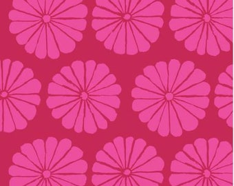 LAST Yard Damask Flower in Magenta fabric designed by Kaffe Fassett GP183