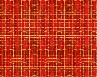 1/2 Yard Free Spirit Garden Brighter Weave in Apple SP010 designed by Sue Penn.  Digital Print