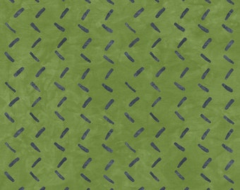 1/2 yard Rivers Bend  Modern Earth, Tracks in Green  2173-9 designed by Janine Burke