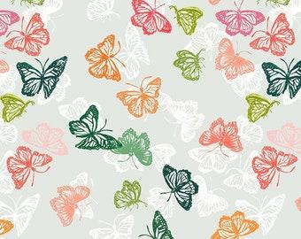 Dear Stella Orangerie, Butterflies 1862 designed by Caitlin Wallace Rowland - Sold in 1/2 yard increments