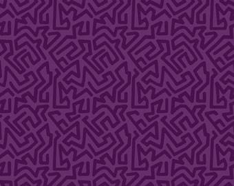 1/2 yard Las Flores 979 Purple designed by Nancy Rink for Studio 37 of Marcus Bros Fabrics