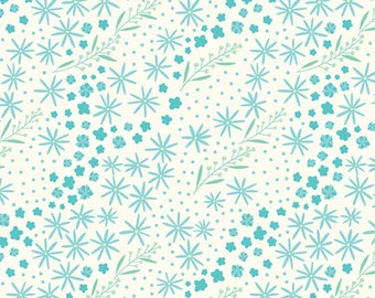 1/2 Yard Happy Thoughts 963 154  Blue designed by Sarah Maxwell for Studio 37 of Marcus Bros Fabrics