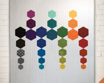 Hexactly Quilt pattern designed by Hunter Design Studio