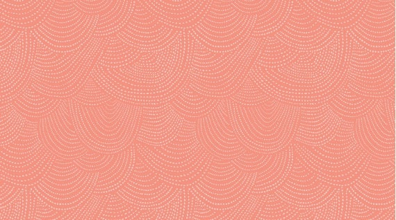 Amy Butler August Fields Coral Cotton Fabric by the Yard