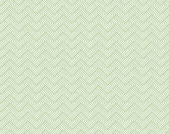 1/2 Yard Happy Thoughts 964 114  Green designed by Sarah Maxwell for Studio 37 of Marcus Bros Fabrics