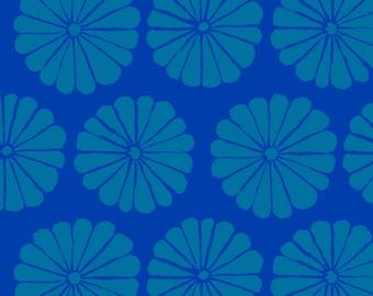 LAST Yard Damask Flower in Blue fabric designed by Kaffe Fassett GP183