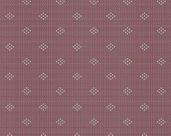 1/2 Yard Andover Entwine Intersect R in Burgundy designed by Giucy Giuce.  Woven Yarn Dye Dobby fabric