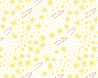 1/2 Yard Happy Thoughts 963 133  Yellow designed by Sarah Maxwell for Studio 37 of Marcus Bros Fabrics