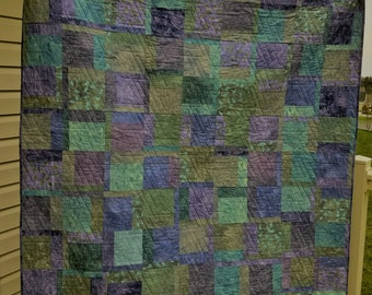 """Elements Quilt - Throw size 62"""" x 74"""".  Ready to Ship"""