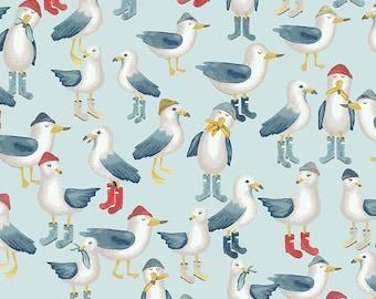 Dear Stella Hook, Line and Sinker, Flock of Seagulls 1647 - Sold in 1/2 yard increments