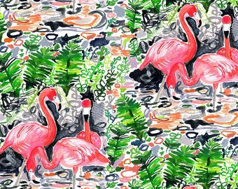 Dear Stella Paradise Found, Flamingoes 1776 designed by August Wren