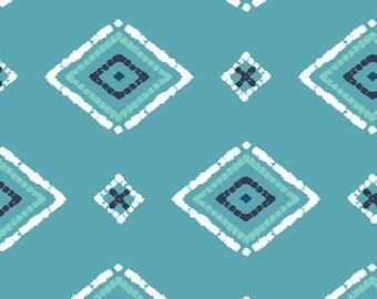 1/2 Yard Art Gallery KNIT Cotton Lycra Jersey 4 way stretch Zanafi in Aqua designed by Katarina Roccella