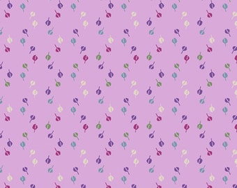 1/2 yard Las Flores 981 Pink Purple designed by Nancy Rink for Studio 37 of Marcus Bros Fabrics