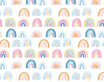 "LAST 1/2 Yard Dear Stella MINKY  Rainbows PCJ1743 designed by Clara Jean - 58"" Wide"