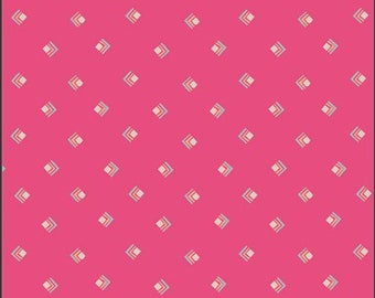 Art Gallery Open Heart, Everlasting Tokens in Pink 24353 designed by Maureen Cracknell - Sold in 1/2 Yard Increments