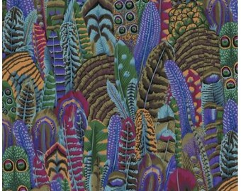 Feathers in Autumn fabric designed by Philip Jacobs PJ055 for Kaffe Fassett  - Sold in 1/2 yard increments