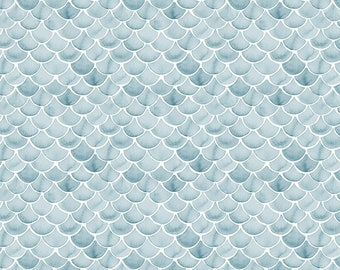 Dear Stella Hook, Line and Sinker, Fish Scales 1799 - Sold in 1/2 yard increments