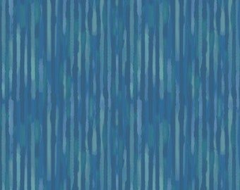 1/2 yard Las Flores 977 Blue designed by Nancy Rink for Studio 37 of Marcus Bros Fabrics
