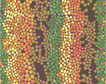 Pebble Mosaic in Jungle fabric designed by Brandon Mably BM042 for Kaffe Fassett - Sold in 1/2 yard increments