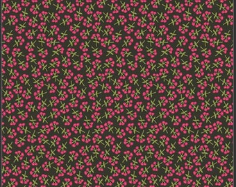 Art Gallery Open Heart, Sweet Floret Cerise 14357 designed by Maureen Cracknell - Sold in 1/2 Yard Increments