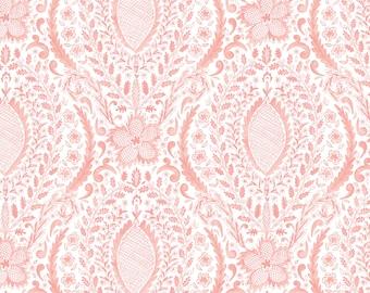 LAST Yard Free Spirit Fabrics Adelaide Grove Ballarat Medallion in Coral 308 designed by Dena Designs