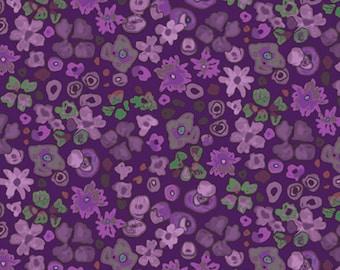 1/2 yard Las Flores 983 Purple designed by Nancy Rink for Studio 37 of Marcus Bros Fabrics